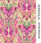 ikat traditional woven... | Shutterstock . vector #473100634