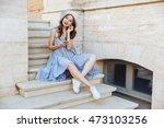 young happy smiling brunette... | Shutterstock . vector #473103256