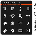 theatre simply symbols for web... | Shutterstock .eps vector #473110924