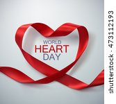 world heart day background.... | Shutterstock .eps vector #473112193