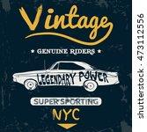 vintage car old vector tee...   Shutterstock .eps vector #473112556