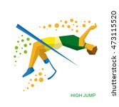 physically disabled jumping... | Shutterstock .eps vector #473115520
