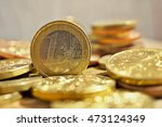 macro detail of a pile of coins ... | Shutterstock . vector #473124349