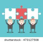 three businessmen standing... | Shutterstock .eps vector #473127508