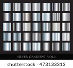set of silver gradients... | Shutterstock .eps vector #473133313