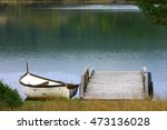 Old Fishing Boat On A Wooden...