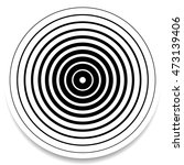 concentric circles  rings... | Shutterstock .eps vector #473139406