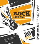live music vector poster... | Shutterstock .eps vector #473145844