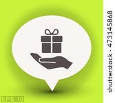 pictograph of gift | Shutterstock .eps vector #473145868