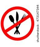 no eating sign. no food. vector ...   Shutterstock .eps vector #473147344