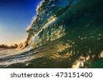 Glossy Glittering Sea Wave....