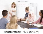 multicultural language class... | Shutterstock . vector #473154874