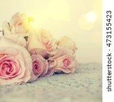 fresh roses flowers | Shutterstock . vector #473155423