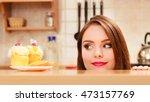 woman hidden behind table...   Shutterstock . vector #473157769