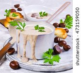 Cream Soup Of Pureed Chestnuts...