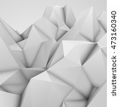 white abstract polygonal... | Shutterstock . vector #473160340