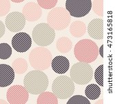 seamless dots pattern with... | Shutterstock .eps vector #473165818