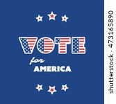 usa voting design concept | Shutterstock .eps vector #473165890