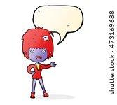 cartoon vampire girl with... | Shutterstock . vector #473169688