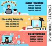 online education flat... | Shutterstock .eps vector #473170678