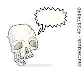 cartoon ancient spooky skull... | Shutterstock . vector #473174140