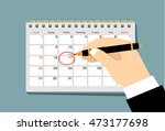 red circle. mark on the... | Shutterstock .eps vector #473177698
