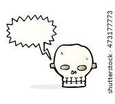 cartoon spooky skull mask with...   Shutterstock . vector #473177773