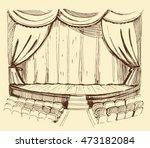 theater scene.sketch vector... | Shutterstock .eps vector #473182084