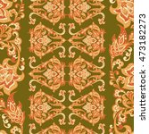 damask floral seamless pattern. ... | Shutterstock .eps vector #473182273