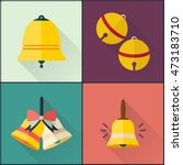 school bell icons set. flat... | Shutterstock .eps vector #473183710