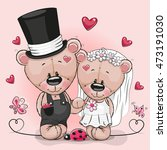 Greeting Card Teddy Bride And...