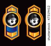 soccer referee ball on orange... | Shutterstock .eps vector #47319412