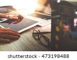website designer working blank... | Shutterstock . vector #473198488