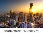 aerial view of bangkok modern... | Shutterstock . vector #473201974