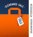 clearance sale poster with... | Shutterstock .eps vector #473203216