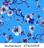 watercolor oriental pattern... | Shutterstock .eps vector #473210959
