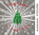 gray christmas background with... | Shutterstock .eps vector #473212906