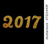 new year 2017 numbers. vector... | Shutterstock .eps vector #473214439