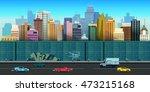 vector illustration of urban...