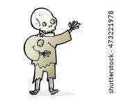 cartoon skeleton waving | Shutterstock . vector #473221978