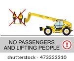 telehandler safety. no... | Shutterstock .eps vector #473223310