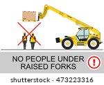 telehandler safety. no people...   Shutterstock .eps vector #473223316
