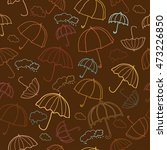 autumn seamless pattern with... | Shutterstock .eps vector #473226850