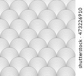 black and white seamless... | Shutterstock .eps vector #473226910