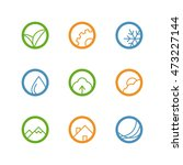 round vector outline icon set   ... | Shutterstock .eps vector #473227144