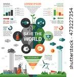 ecology   modern vector flat... | Shutterstock .eps vector #473227354