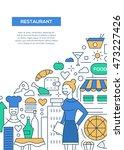 restaurant   vector line design ...   Shutterstock .eps vector #473227426