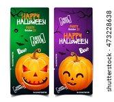 halloween pumpkin head jack... | Shutterstock .eps vector #473228638