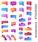 vector stickers  price tag ... | Shutterstock .eps vector #473229283