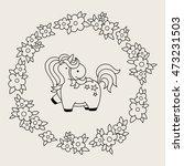 cute magic kawaii unicorn in... | Shutterstock .eps vector #473231503